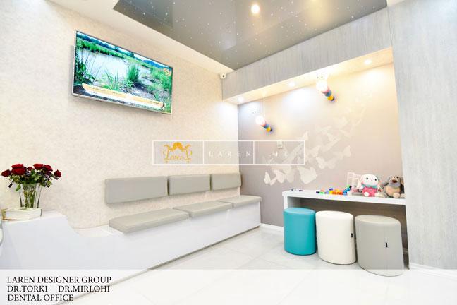 طراحی و اجرای دکوراسیون مطب دندانپزشکی دکتر ترکی ،دکتر میرلوحی